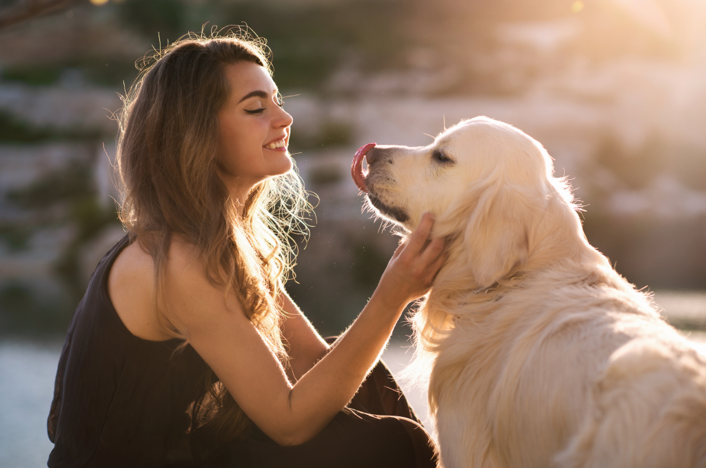 Young women with her dog